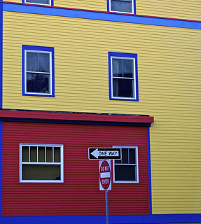 Brightly colored building