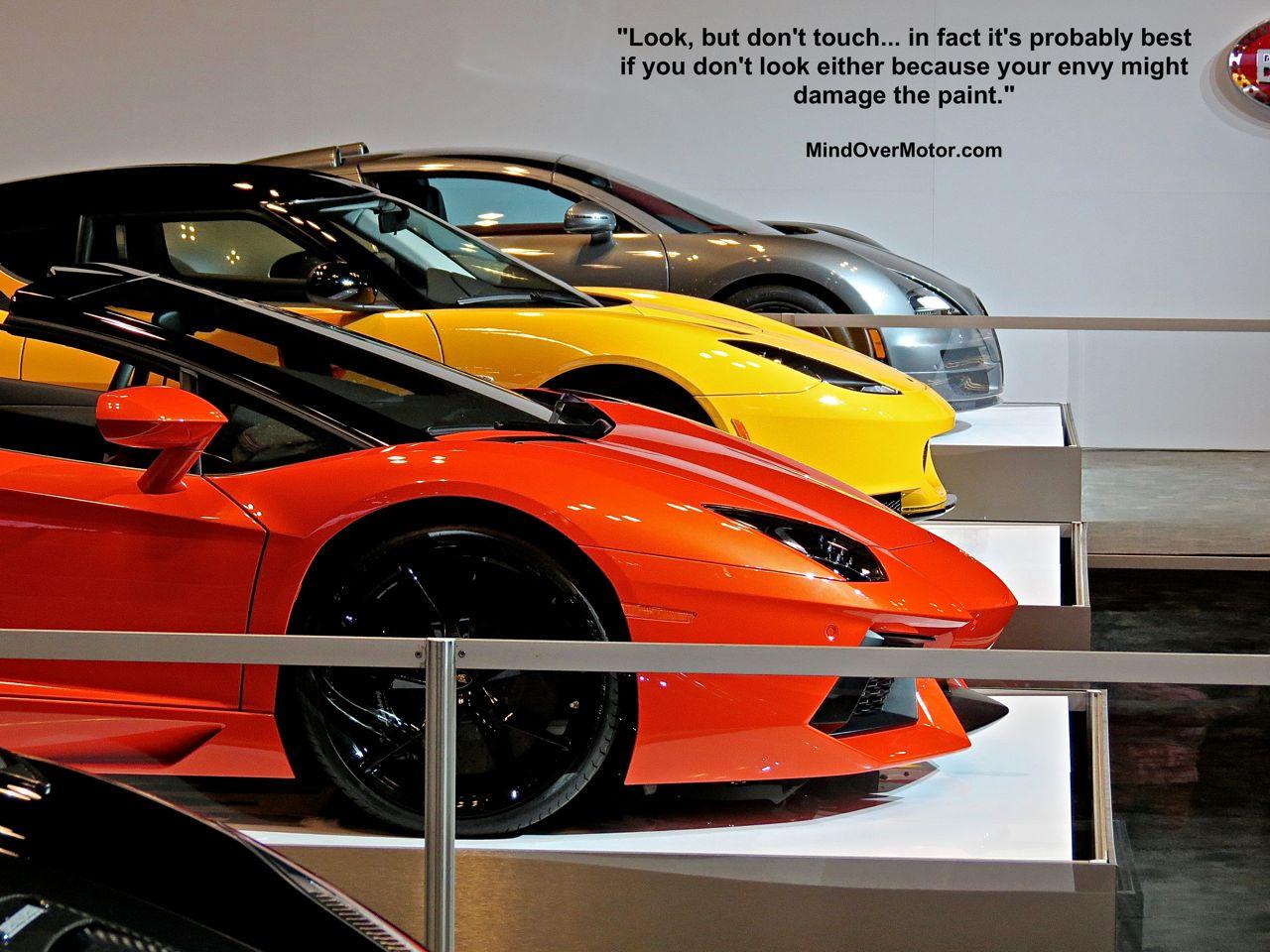 Lamborghini, Lotus, and Bugatti