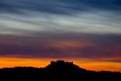 Sunset behind the Hohensalzburg fortress