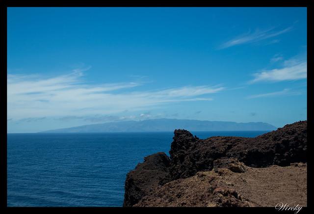 Punta de Teno lugar más occidental Tenerife - La Gomera desde Punta de Teno