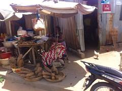 African Yams, Street Market in Cotonou