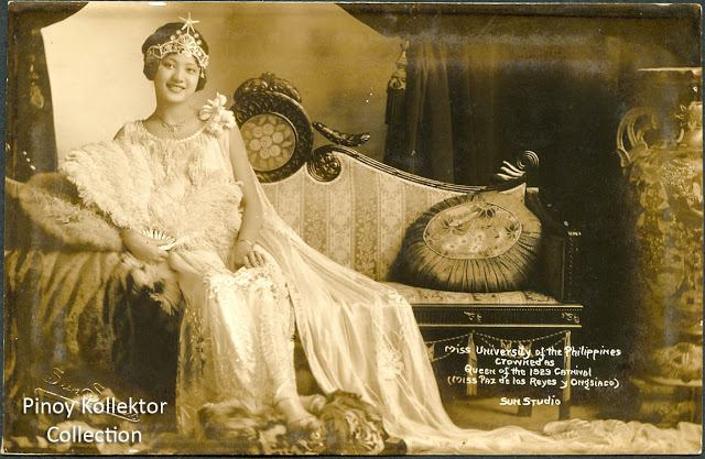 Queen of the 1929 Philippine carnival, Paz de los Reyes Ongsiaco (1929) [640 x 417] #HistoryPorn #history #retro http://ift.tt/1qWGmpW