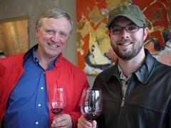 Dad & Josh Taste Wine