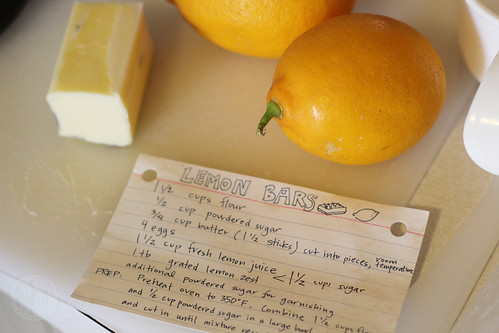 Lemon Week: lemon bars!