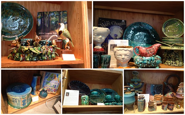 Pottery in Gift Shop @ Ohr-O'keefe