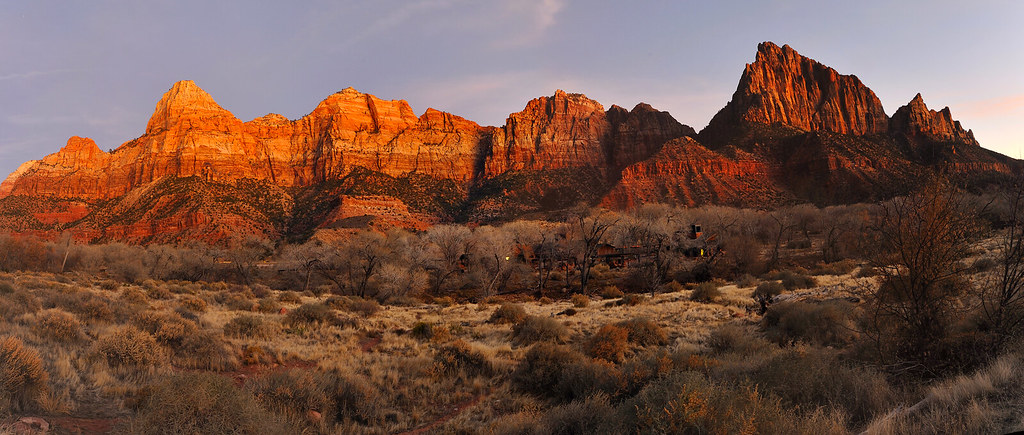 Twilight Zion National Park Panorama