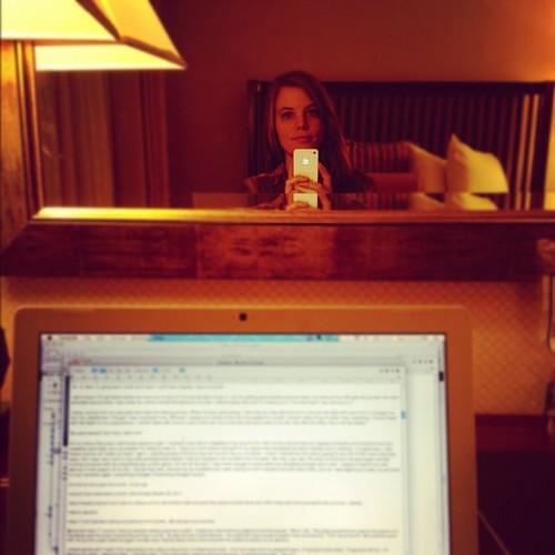 And now I write. #discipline #writing