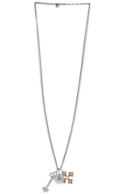 Stella & Dot Liv Multi Charm Necklace