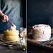 lemon cake with black tea frosting