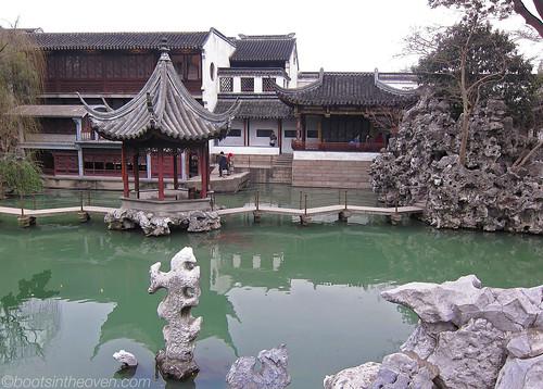 Pond/pagoda/pathway