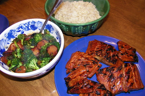 Asian Grilled Salmon and Broccoli
