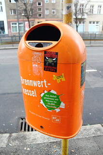 A trash can in Berlin.