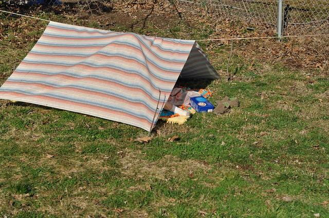 pup tent.