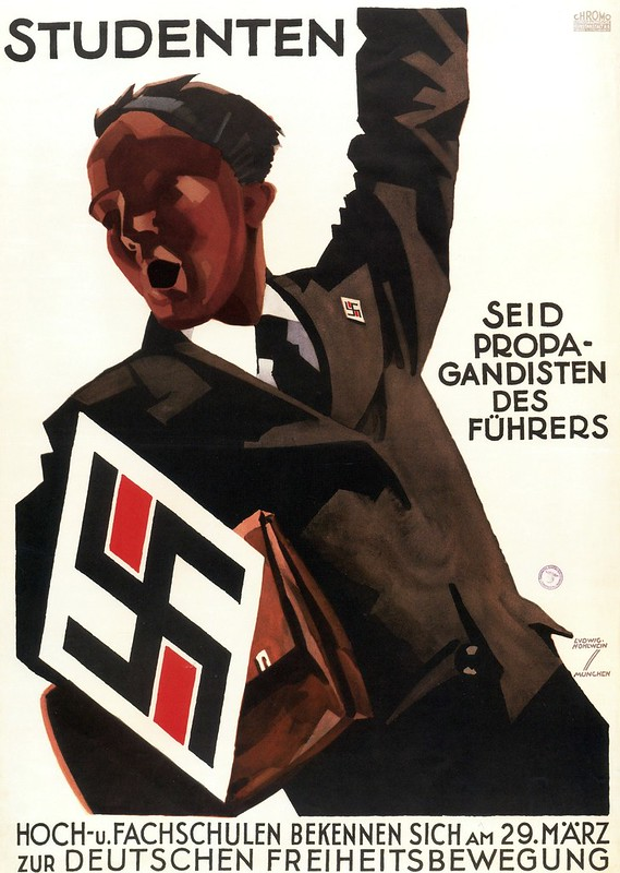 Ludwig Hohlwein. Students, be the Fuhrer's Propagandists! 1930