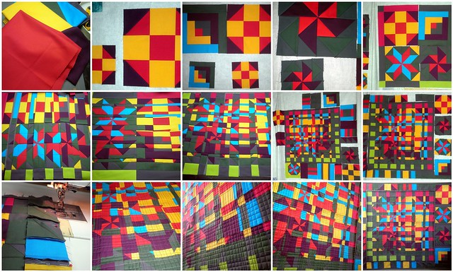 The Progress of 'Fractured Barn Quilt's for the Project QUILTING Barn Quilt Challenge