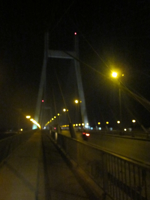 suspension bridge at night, Allahabad