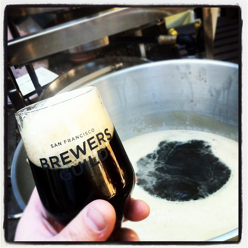 Drinking a Back in Black as the boil gets ready