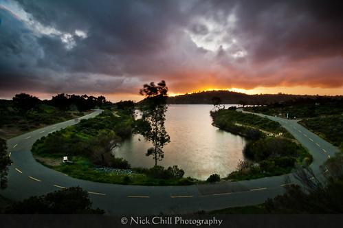 california sunset photography nikon sandiego fineart lakemurray missiontrailsregionalpark stockimage d300s tokina1116mm nickchill