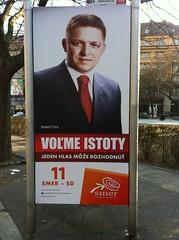 Wahlplakat für Robert Fico zu den Parlamentswahlen in der Slowakei