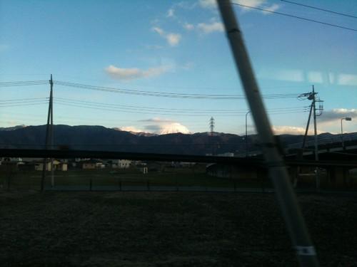 帰りは富士山見えた。