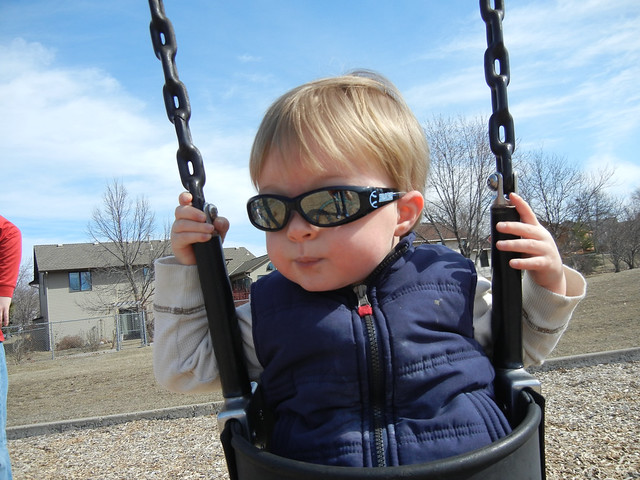 Cool Kid on the Swings