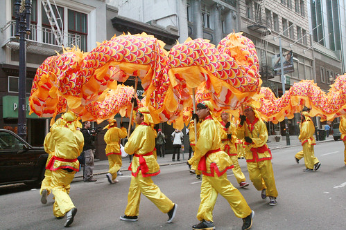 Chinese Dragon Dancers in SF
