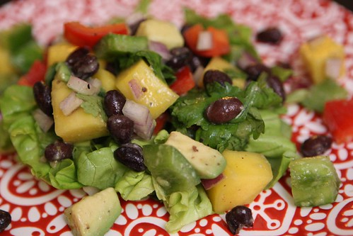 Chopped Salad with Mango, Black Beans, and Avocado