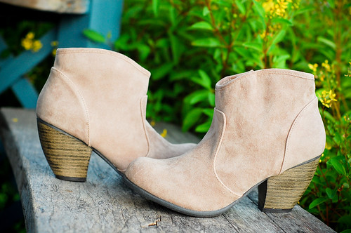 Rowena Taupe Cowboy Booties