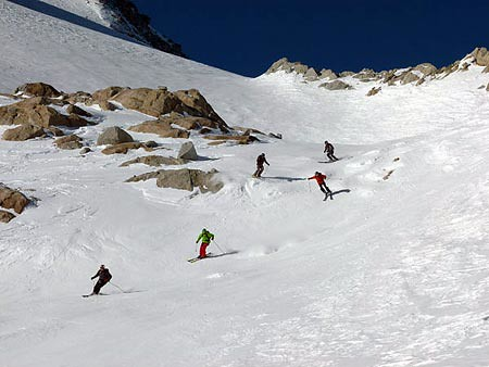 Esquiadores intermedios