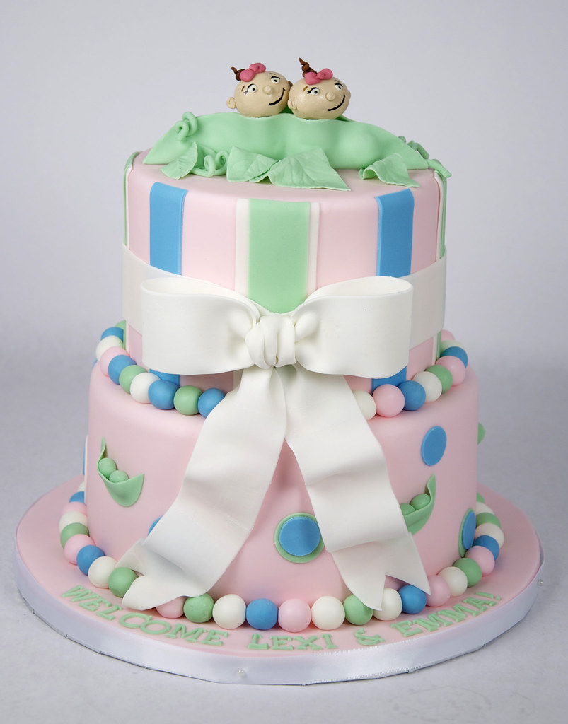 twin baby shower cake toronto