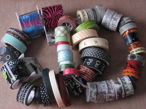 Art Journal #8 - Stamped Masking Tape 002