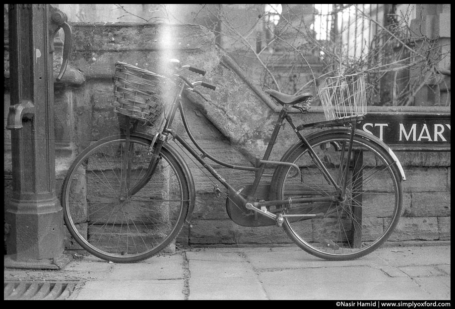 old style bicycle with brooks saddle