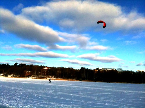 Kitesurfing on ice by Erixsson