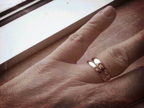 Wedding ring plus one. Added my mother's wedding ring. #photoaday2012 by wendysoucie
