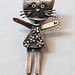 Kitty brooch SIL