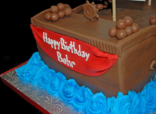 3rd birthday pirate ship cake birthday banner