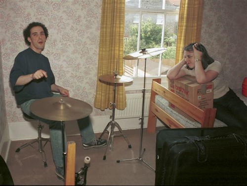 Drum kit moves house, 1998