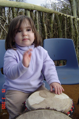 Baby Livvy drumming