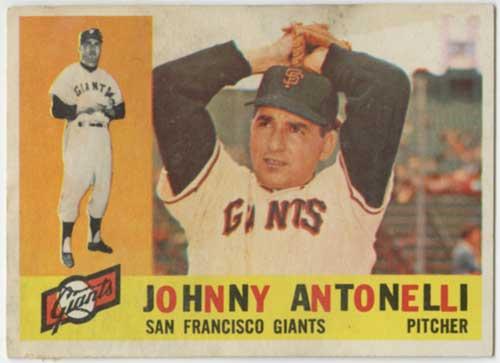 1960 Topps Johnny Antonelli