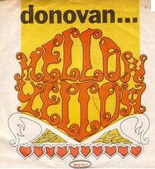 "Donovan record jacket ""Mellow Yellow"" copy"