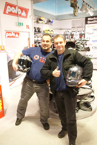 HJC Helme und sw-motech Packtaschen für Norwegen 2012