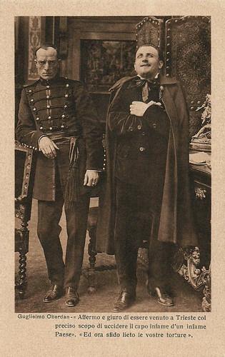 Alberto Collo and Emilio Ghione in Guglielmo Oberdan, il martire di Trieste (1915)