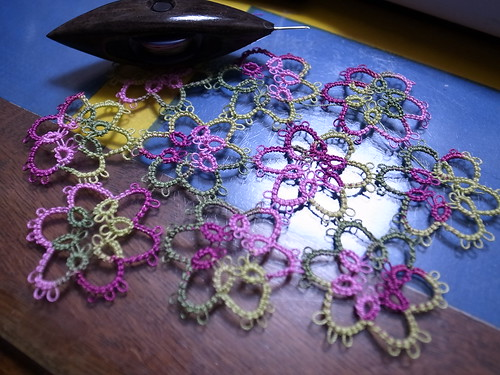 Tatted Doily in Progress by Garyou