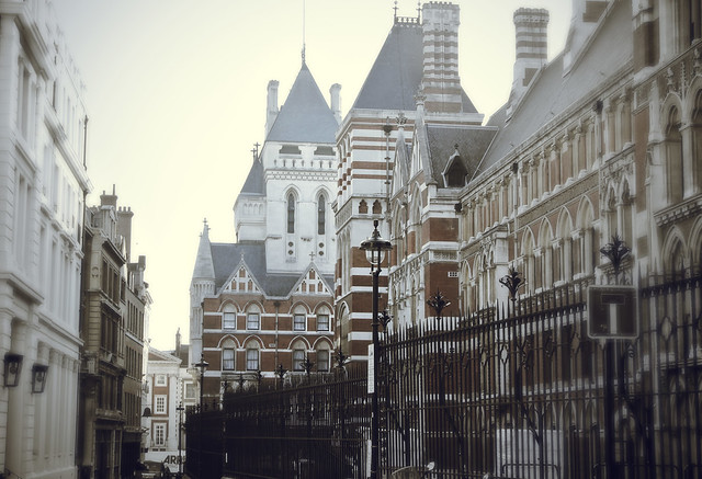 View of Royal Courts of Justice - Bell Yard