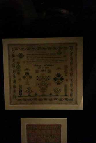 Mary Adams 1846 - a sampler on display at Te Papa