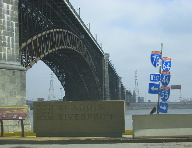 St Louis Riverfront Sign