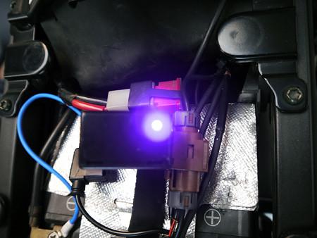LEDのインジケーターランプが点灯