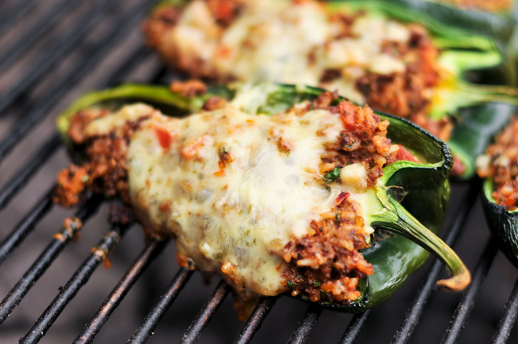 Chorizo Stuffed Poblano Peppers