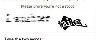 Dear Blogger word verification thingy...