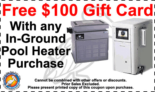 Free $100 Gifts card with any In-Ground Pool Heater Purchase
